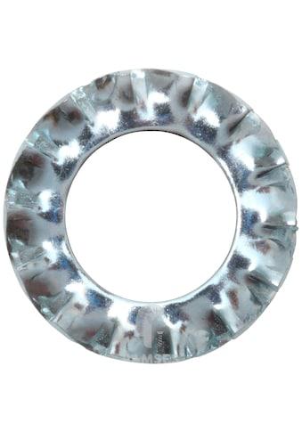 RAMSES Fächerscheibe , M10 Form A außengezahnt DIN 6798 Stahl verzinkt 100 Stück kaufen