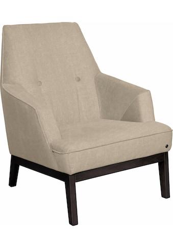TOM TAILOR Sessel »COZY«, im Retrolook, mit Kedernaht und Knöpfung, Füße wengefarben kaufen