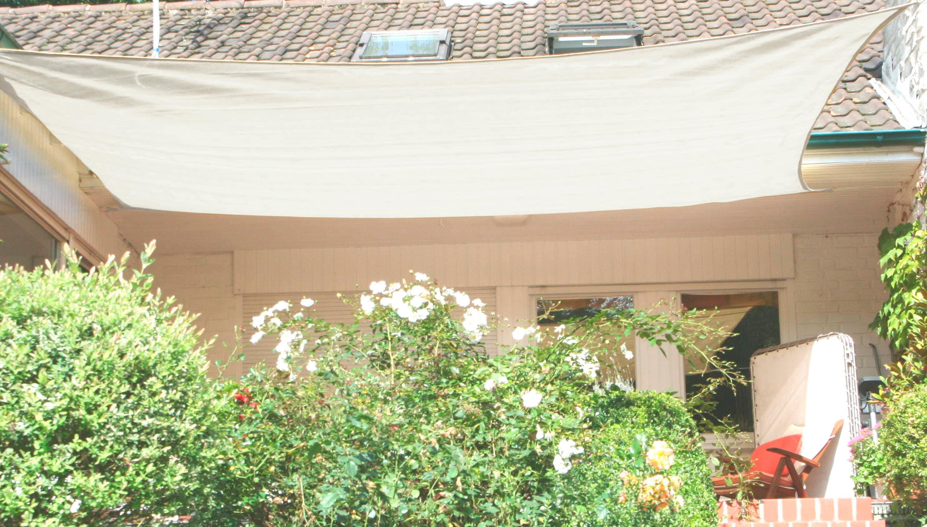 FLORACORD Sonnensegel, BxL: 500x400 cm, cremeweiß   Garten > Sonnenschirme und Markisen > Sonnensegel   Weiß   Polyethylen   FLORACORD