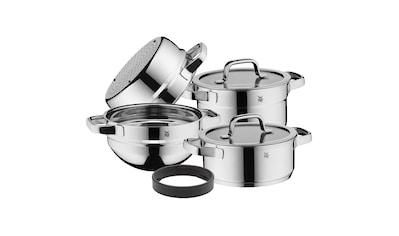 WMF Topfset, Glasdeckel, Cromargan Edelstahl 18/10, Induktion »Compact Cuisine« kaufen
