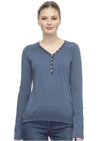Ragwear Plus V-Shirt »PINCH ORGANIC PLUS«, mit Knöpfen & dekorativen Ziernähten kaufen