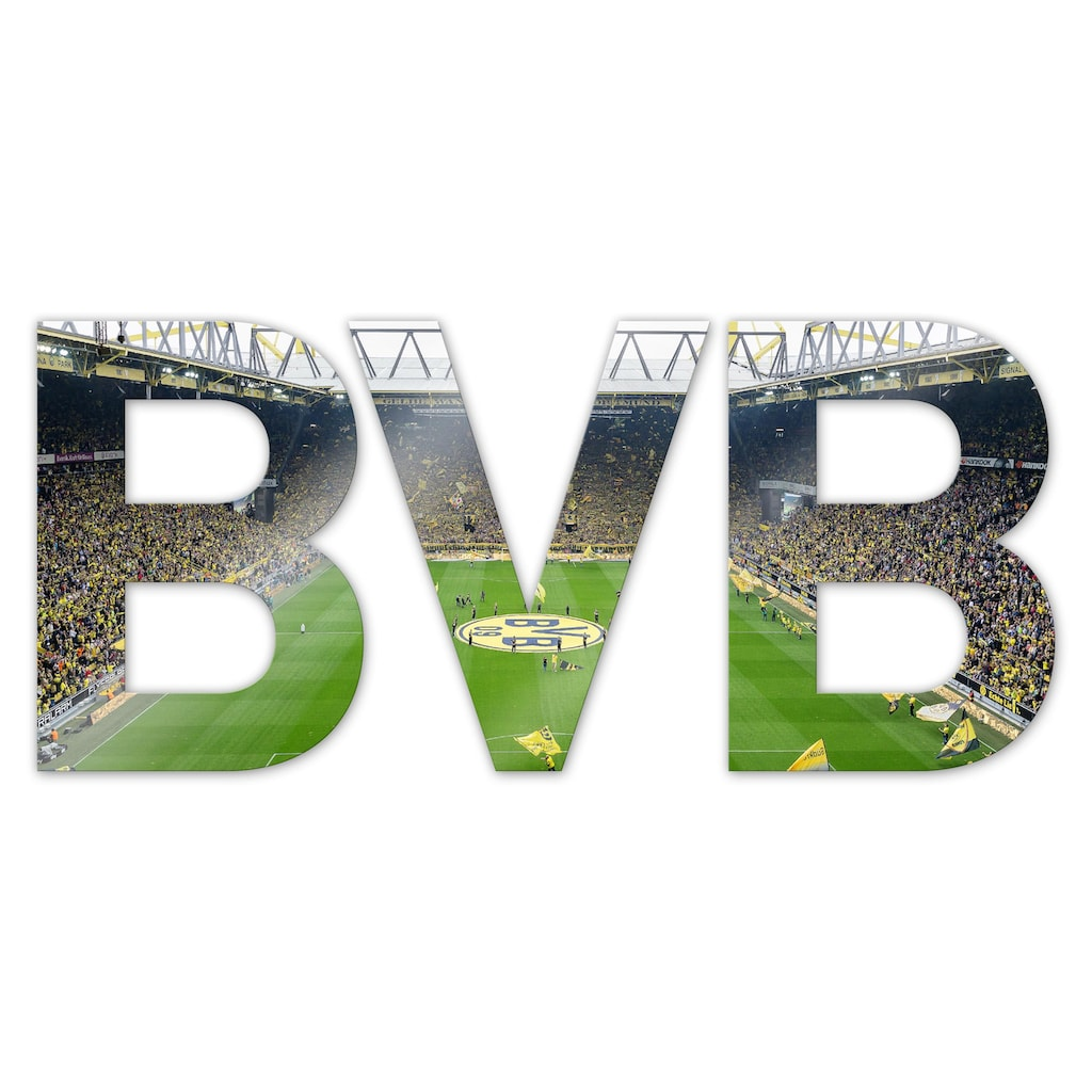 Wall-Art Dekoobjekt »BVB«, 44/18 cm mit 3D-Effekt