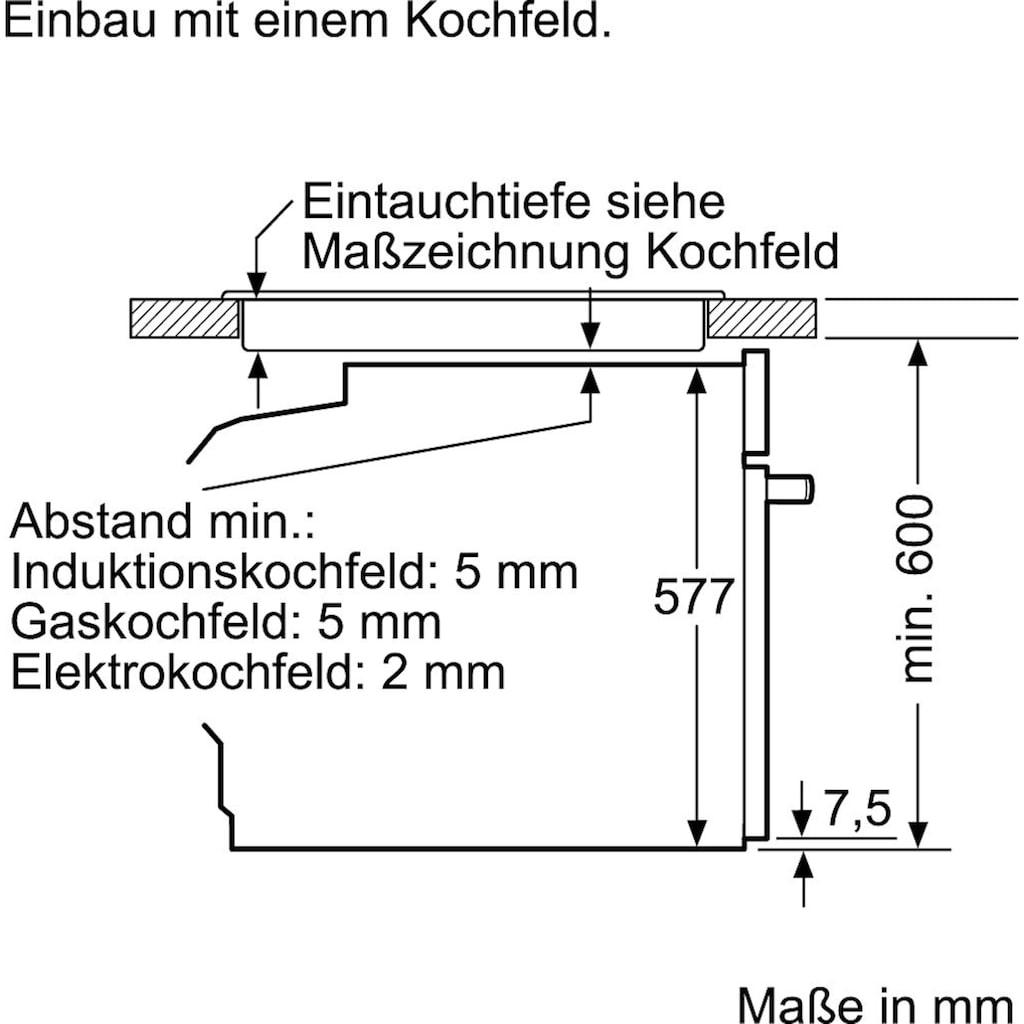 NEFF Einbaubackofen »B45CR22N0«, N 70, B45CR22N0, mit Teleskopauszug nachrüstbar, easyClean, Slide&Hide®