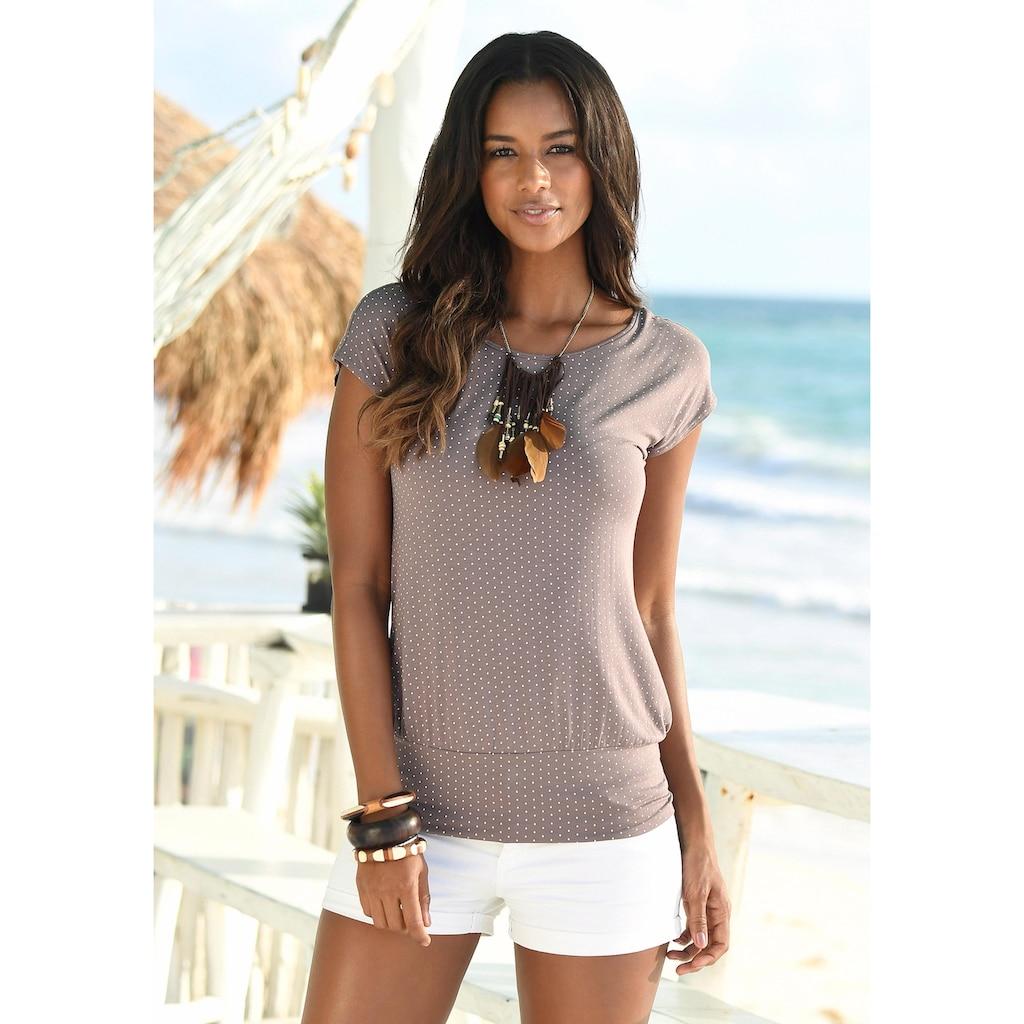LASCANA Longshirt, mit breitem Bund