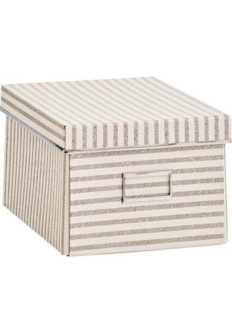 Zeller Present Aufbewahrungsbox »Stripes«, Pappe, beige kaufen