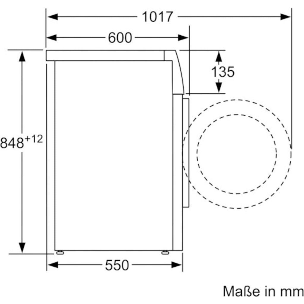 SIEMENS Waschmaschine »WM14N0K4«, iQ300, WM14N0K4, 7 kg, 1400 U/min