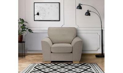DELAVITA Sessel »Savoy«, gemütlicher Sessel,k in 2 Bezugsqualitäten kaufen
