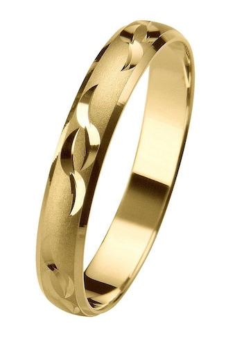 Firetti Trauring mit Gravur »3,5 mm, glatt, sandmatt, Diamantschnitt« kaufen