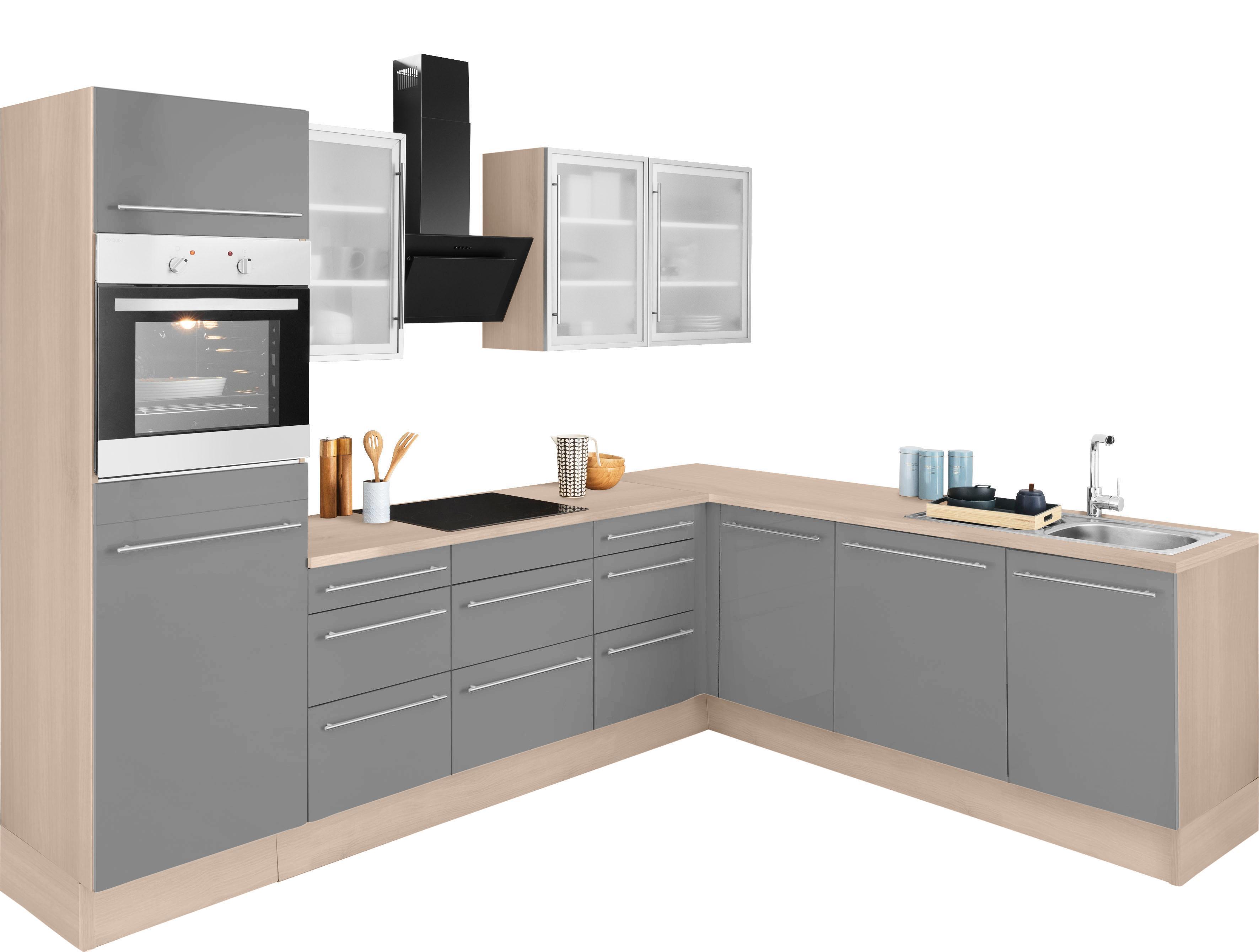 OPTIFIT Winkelküche »Winkelküche«, mit E-Geräten, Stellbreite 285 x 225 cm | Küche und Esszimmer > Küchen > Winkelküchen | OPTIFIT