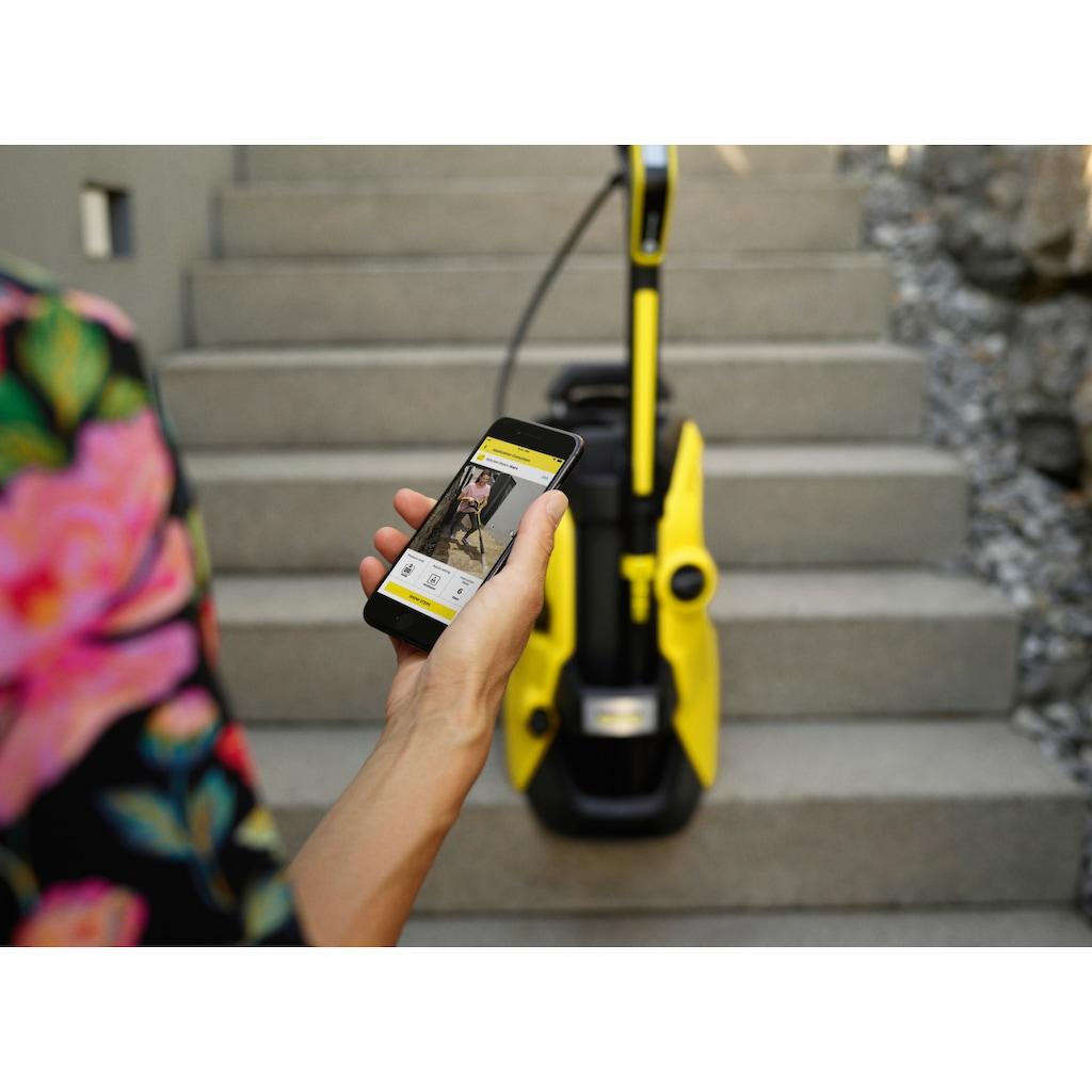 KÄRCHER Hochdruckreiniger »K 5 Premium Smart Control«, G 180 Q Smart Control-Pistole, 3-in-1-Multi Jet-Strahlrohr, Schlauchtrommel