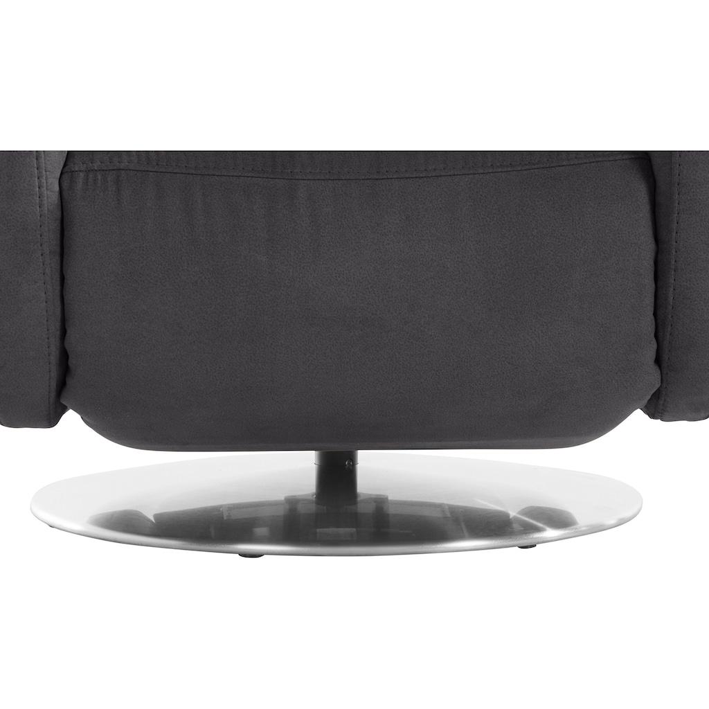 Places of Style Relaxsessel »Capriccio«, in 3 Größen S-M-L, mit Vario-Kopfteilverstellung, integrierter Fußstütze und Drehfunktion, wahlweise manuell oder motorisch verstellbar, auch mit Aufstehhilfe