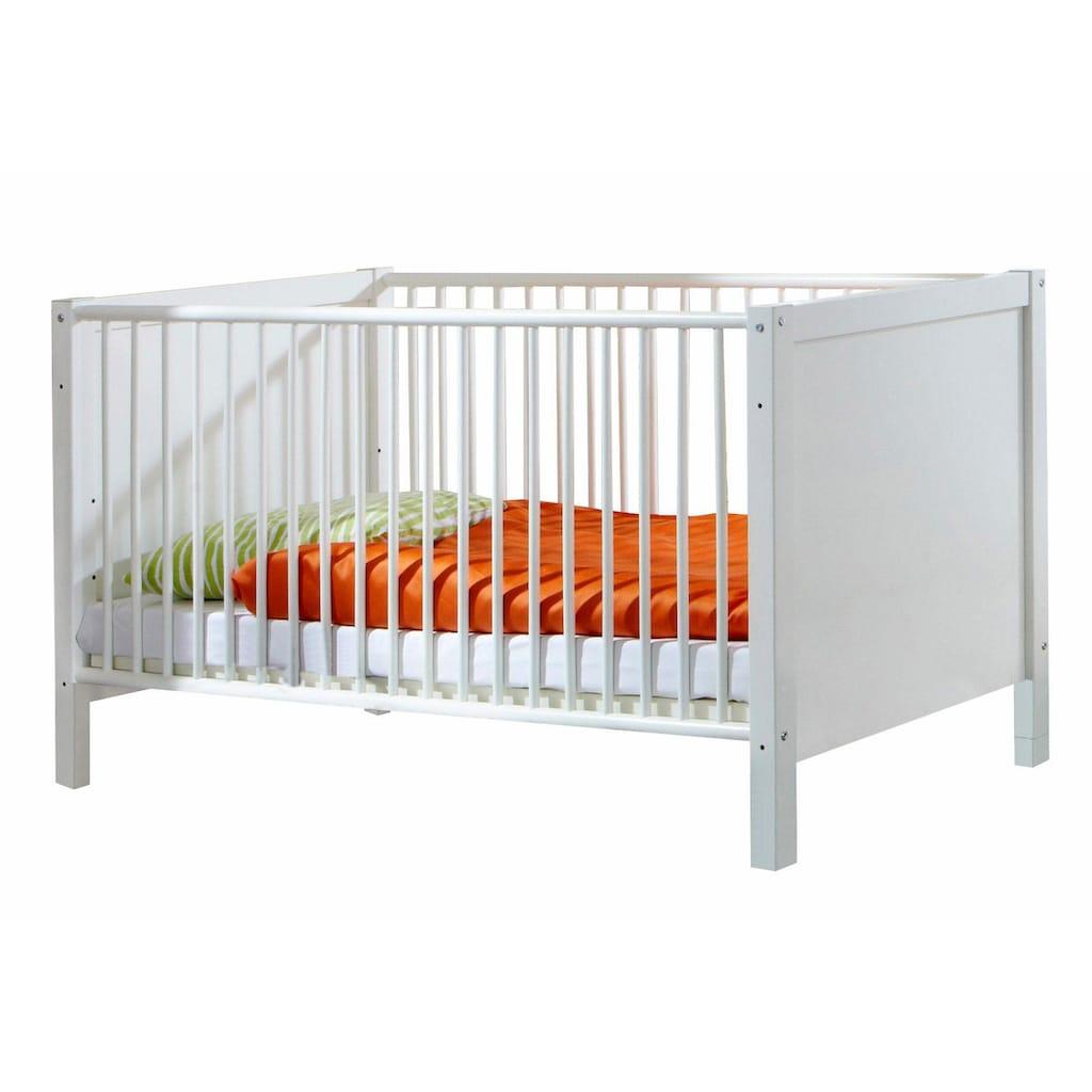 Babyzimmer-Komplettset »Helsingborg«, (Set, 3 tlg.), Bett + Wickelkommode + 3 trg. Schrank