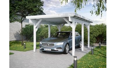 Kiehn-Holz Einzelcarport »KH 300 / KH 301«, Holz, 275 cm, weiß, Stahl-Dach, versch.... kaufen