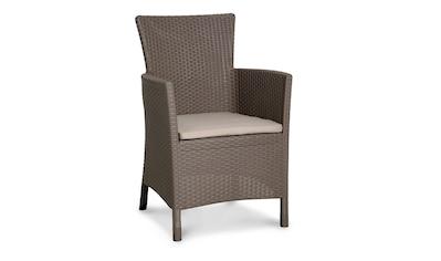 Gartenstuhl »Napoli«, (2er Set), Polyrattan, inkl. Sitzkissen kaufen