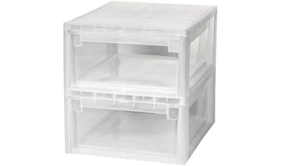 KREHER Aufbewahrungsbox »2x 12 Liter, mit Schublade« 2er Set kaufen