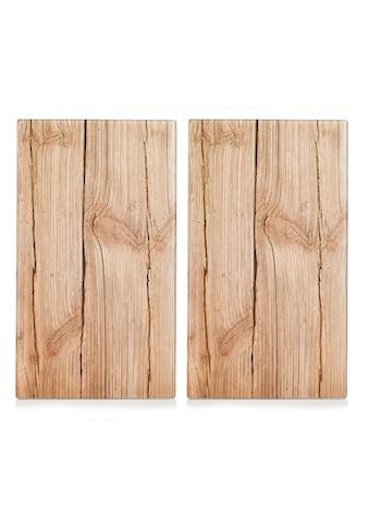 """Zeller Present Schneide -  und Abdeckplatte """"Wood"""", ESG - Sicherheitsglas, (Set, 2 - tlg.) kaufen"""