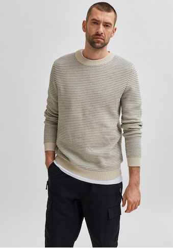SELECTED HOMME Rundhalspullover »WES KNIT CREW NECK« kaufen