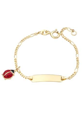 Amor Goldarmband »Marienkäfer, 2014262«, Made in Germany, mit Emaille kaufen