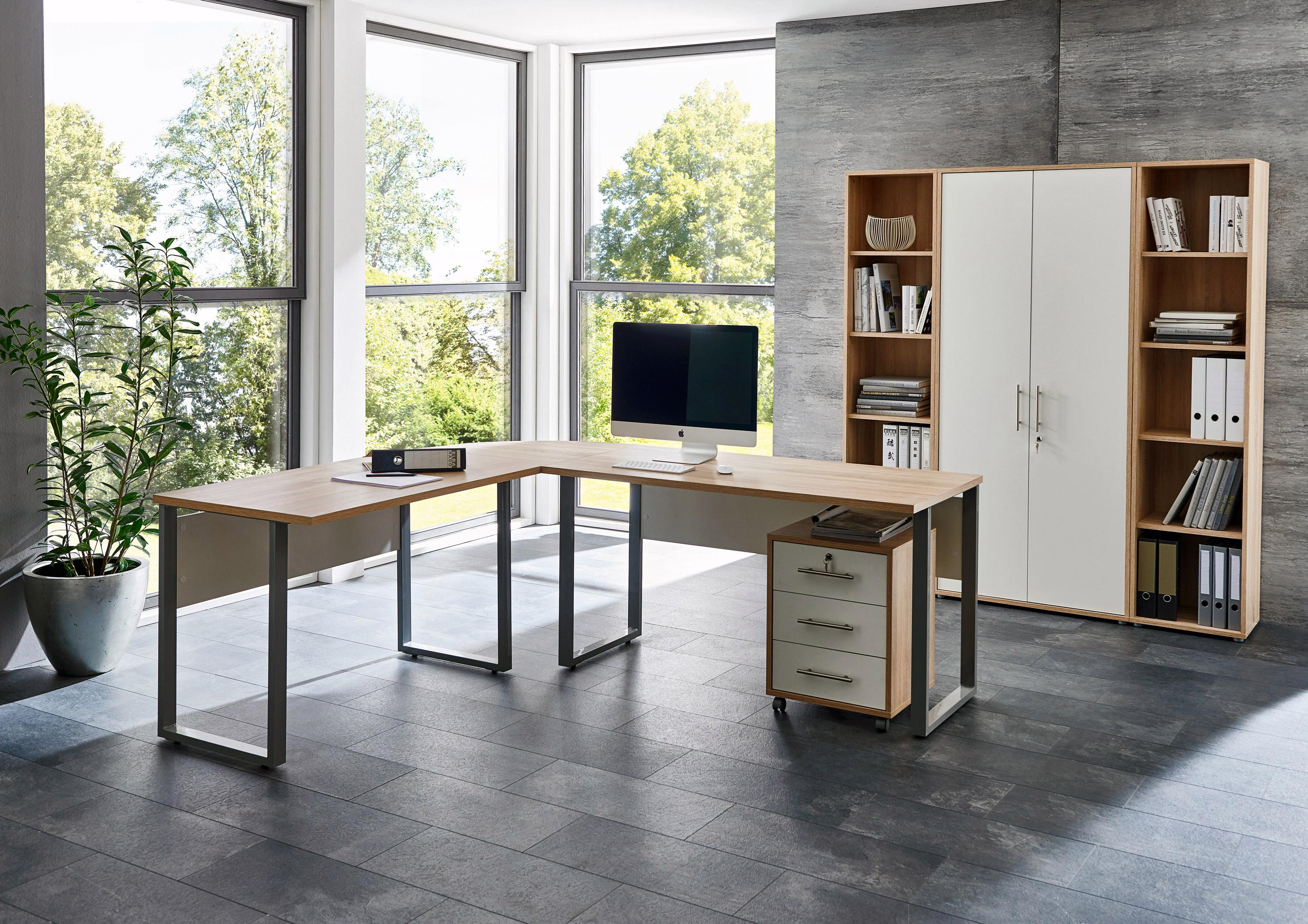 Büro-Set »Tabor Office 3« (Set, 6-tlg) | Büro > Büromöbel-Serien | Braun | Abs | QUELLE