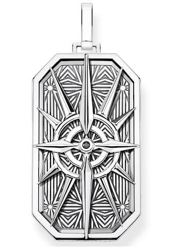 THOMAS SABO Kettenanhänger »Kompass Stern silber, PE868-643-11«, mit Zirkonia kaufen