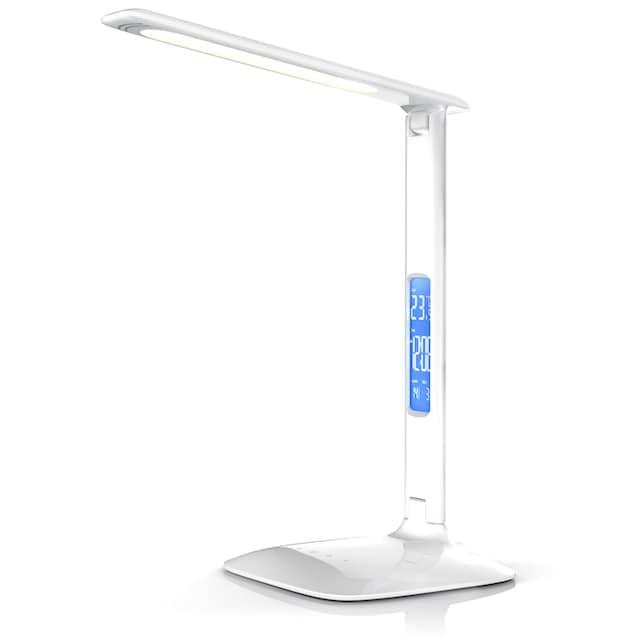 Brandson dimmbare LED Schreibtischlampe mit 450 Lumen »Temperatur-, Alarm- & Kalenderfunktion«