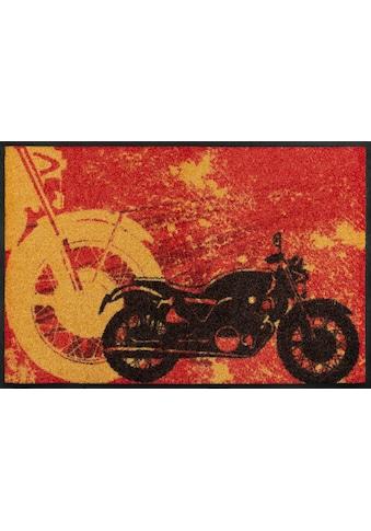 wash+dry by Kleen-Tex Fußmatte »Motorbike«, rechteckig, 7 mm Höhe, Schmutzfangmatte,... kaufen
