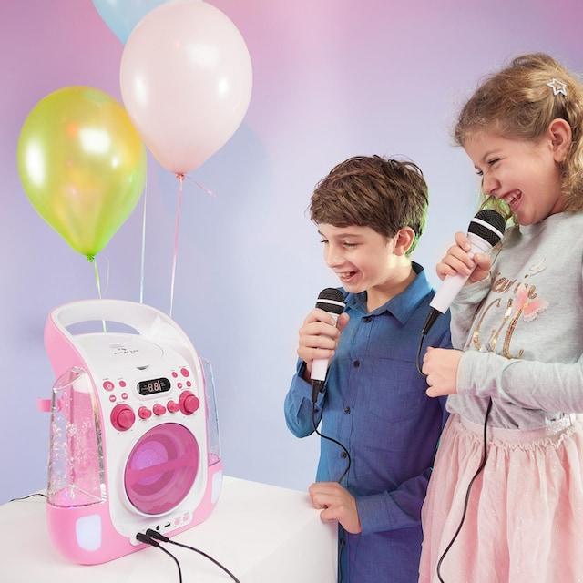 Auna Mobile Karaokeanlage CD USB MP3 LED Mikrofon Karaokemaschine »Kara Liquida«