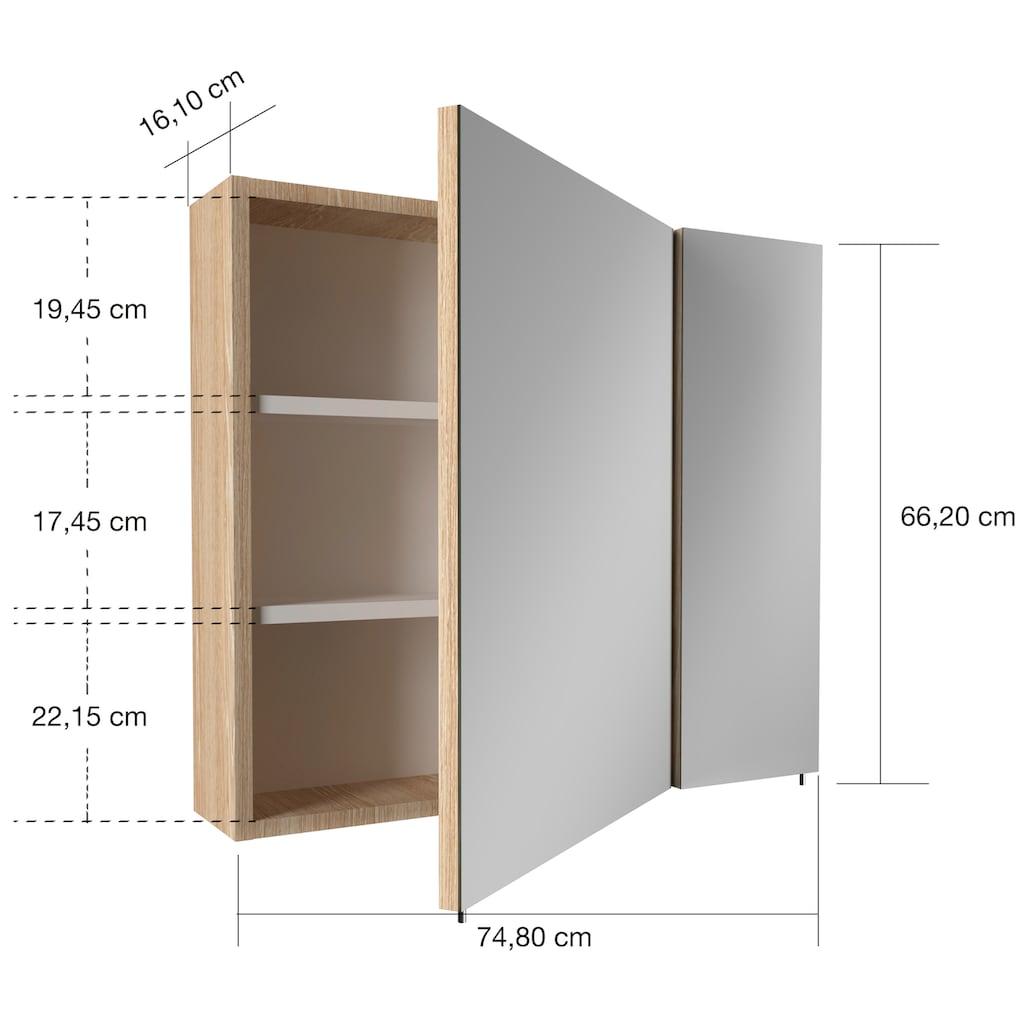 Badmöbel-Set »Enez«, (3 St.), Breite 80 cm, mit 2 Schubladen