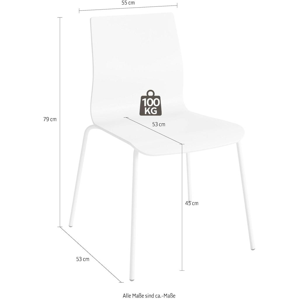 Places of Style Esszimmerstuhl »Juma«, aus schönem massivem, lackierten Buchenholz, Sitzhöhe 45 cm