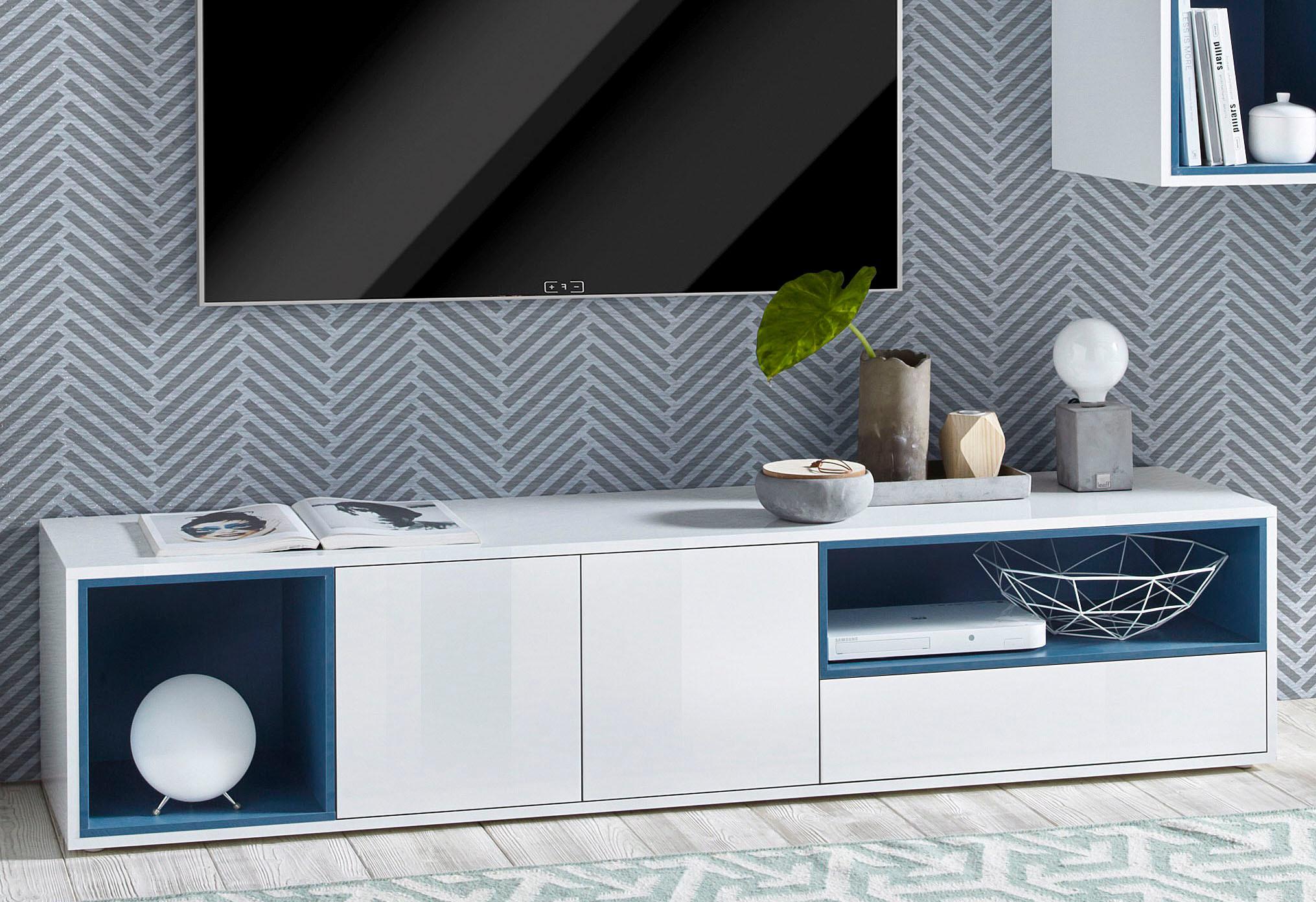 tv lowboard design holz hochglanz amera, möbel und accessoires fürs wohnzimmer online kaufen | möbel, Design ideen