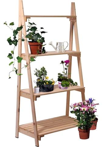 DOBAR Blumentreppe BxTxH: 75x39x146 cm, Kiefer kaufen