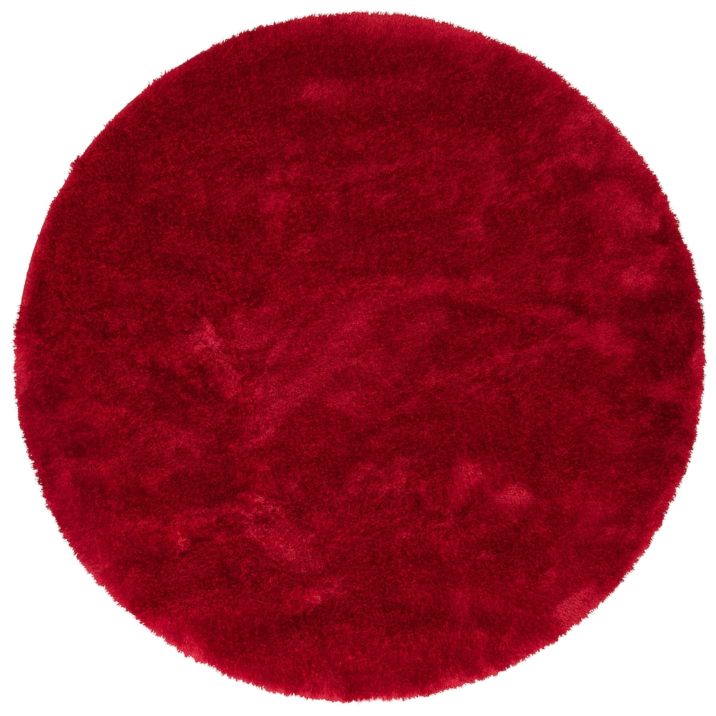 my home Hochflor-Teppich »Mikro Soft Super«, rund, 50 mm Höhe, Besonders weich durch Microfaser, extra flauschig