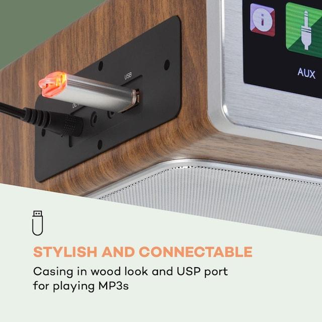 Auna Küchenradio 20W max. CD BT USB Internet/DAB »SilverstarChef«