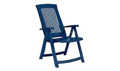 BEST Gartenstuhl »Kansas«, (2er Set), Kunststoff, verstellbar, blau, inkl. Auflage kaufen