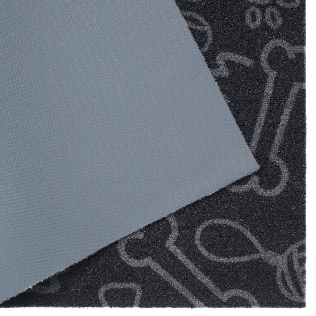 HANSE Home Fußmatte »Dog Toys«, rechteckig, 4 mm Höhe, Schmutzfangmatte