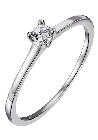 Firetti Diamantring »Solitär, ca.1,40 mm breit, Krappenfassung, Glanz, massiv«, mit Brillant kaufen