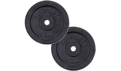ScSPORTS® Hantelscheiben »Hantelscheibenset Gusseisen 30 mm 2x10 kg«, (Set, 2 tlg.) kaufen