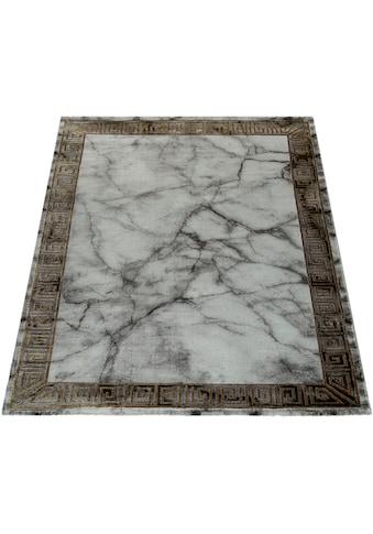 Paco Home Teppich »Kraft 522«, rechteckig, 17 mm Höhe, Kurzflor mit Marmor-Design und... kaufen