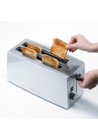 Graef Toaster »TO 100, silber«, 2 lange Schlitze, für 4 Scheiben, 1380 W kaufen