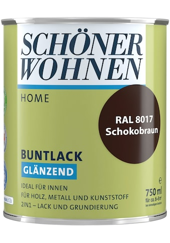 SCHÖNER WOHNEN-Kollektion Lack »Home Buntlack«, glänzend, 750 ml, schokobraun RAL 8017 kaufen