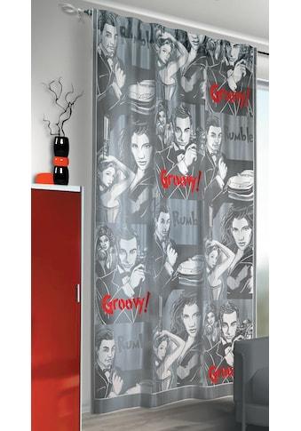 Vorhang, »Groovy«, , verdeckte Schlaufen 1 Stück kaufen