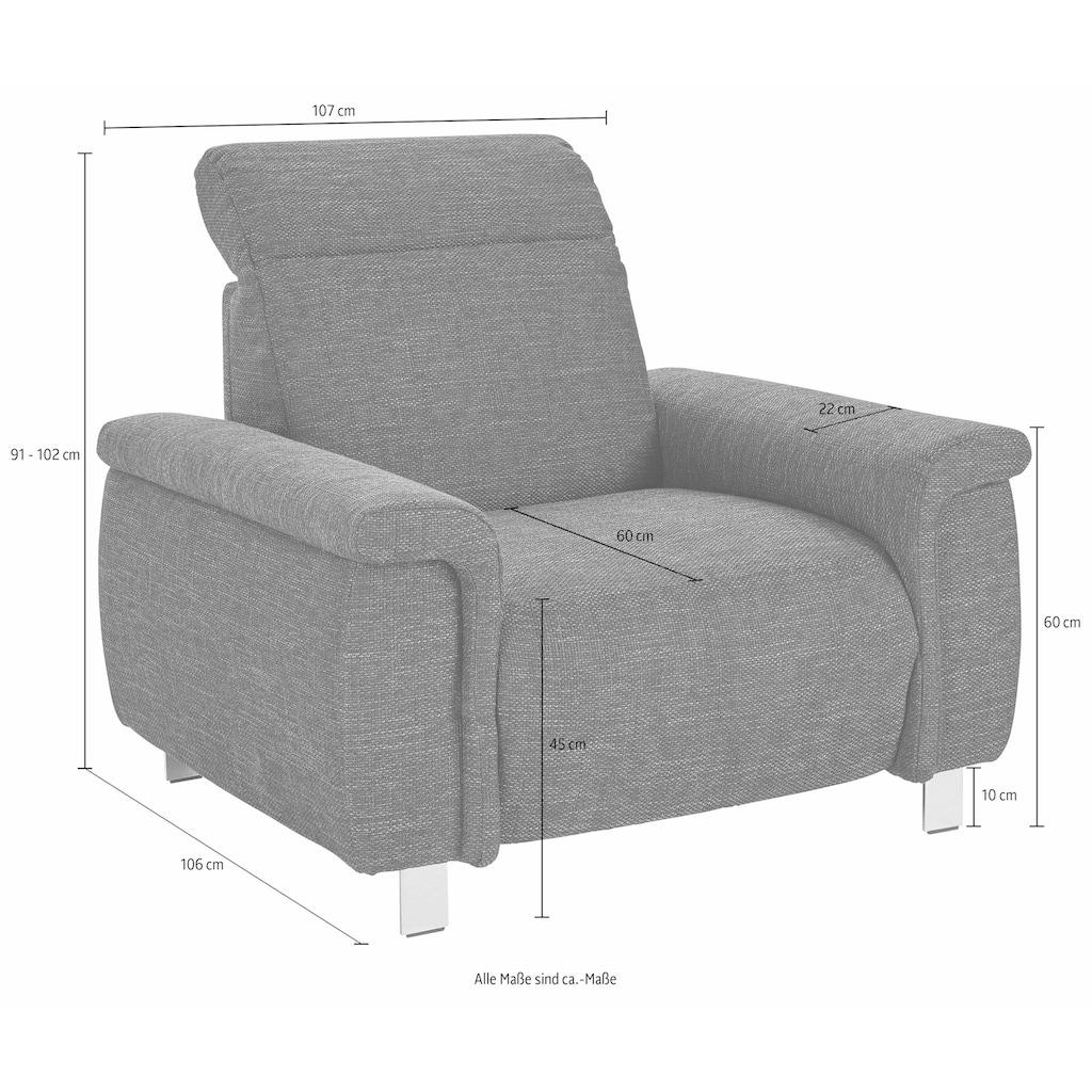 sit&more Sessel, wahlweise mit elektrischer Wallfree-Funktion