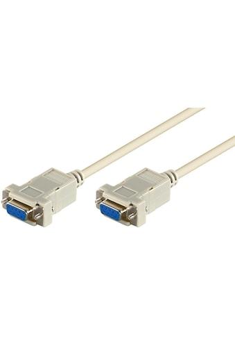 Goobay D - SUB 9 pin Anschlusskabel »Buchse/Buchse; seriell Nullmodem« kaufen