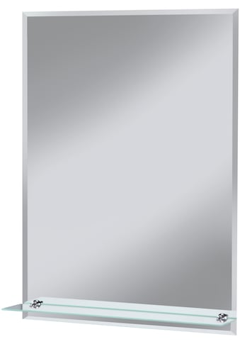 WELLTIME Badspiegel »Flex«, 60 x 80 cm, mit Glasablage und Facettenschliff kaufen