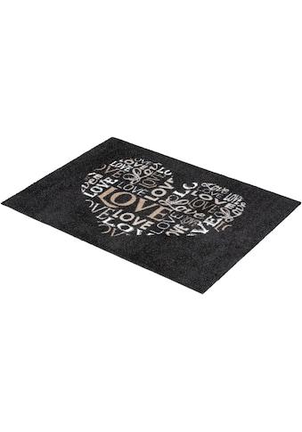 ASTRA Fußmatte »Felicido 802«, rechteckig, 6 mm Höhe, Schmutzfangmatte, mit Spruch kaufen