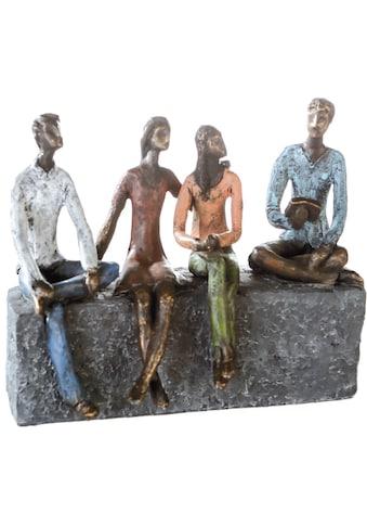 Casablanca by Gilde Dekofigur »Skulptur Network«, Dekoobjekt, Höhe 21 cm, mit Spruchanhänger, Wohnzimmer kaufen