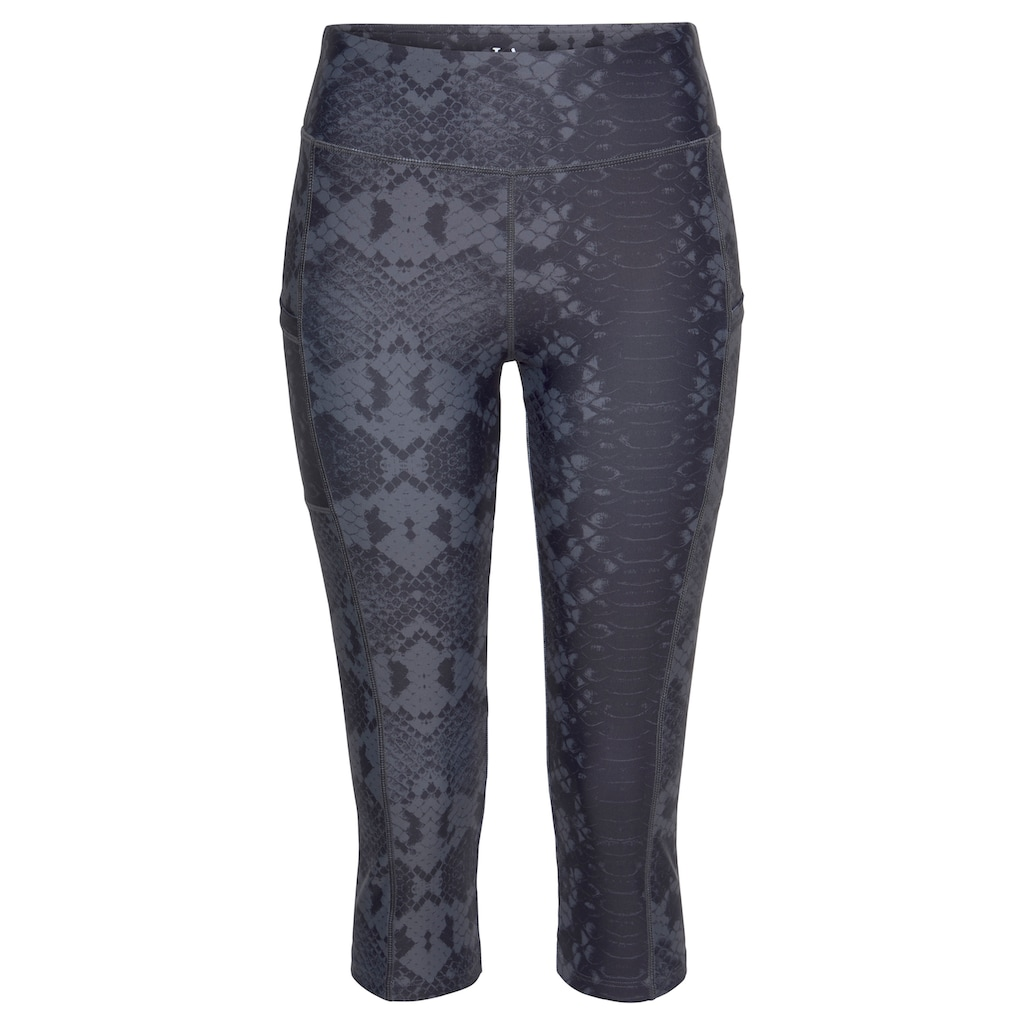 LASCANA ACTIVE Caprileggings »Shiny Snake Skin«