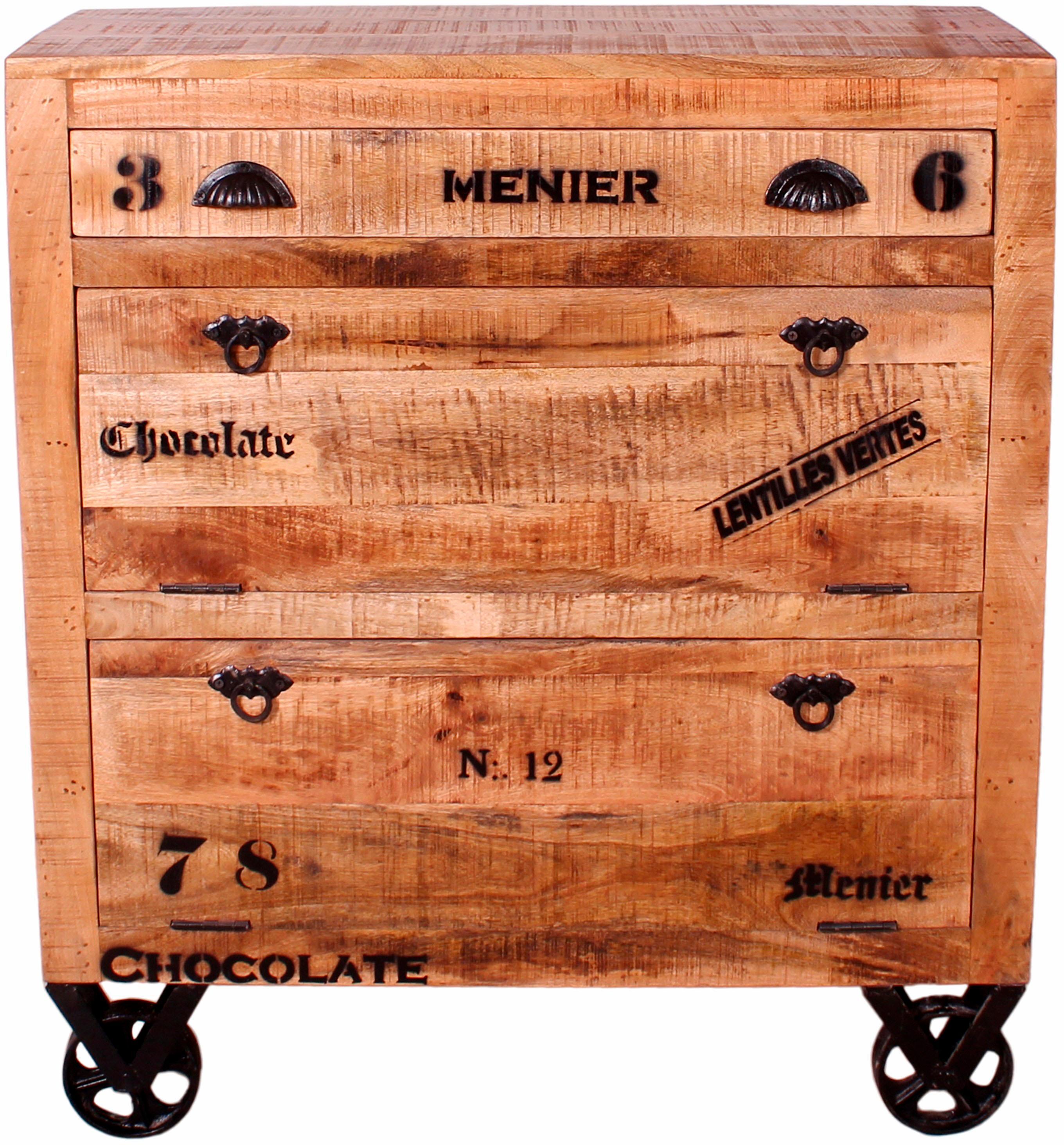 SIT Schuhschrank »Rustic«, im Factory Design, Breite 82 cm, Shabby Chic, Vi günstig online kaufen