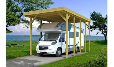 Skanholz Einzelcarport »Friesland«, Holz, 355 cm, grün, für Caravan kaufen