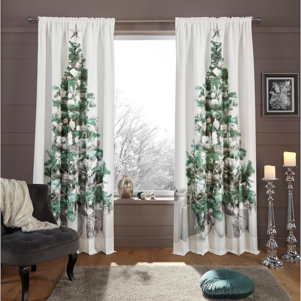 my home Vorhang »Xmas Tree«, HxB: 230x140, Weihnachtsdeko